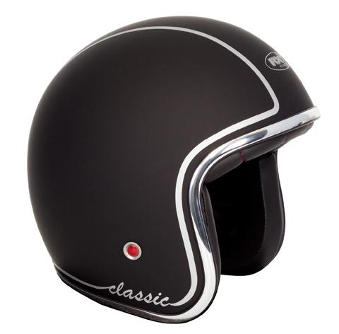 RXT A611C Classic Open Face Helmet Matte Black Silver