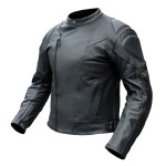 Rjays Sport II Black Leather Jacket - Mens