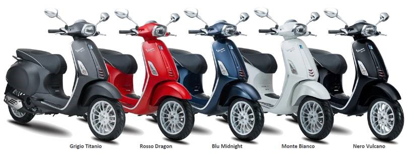 Vespa Sprint 150 - 5 colours