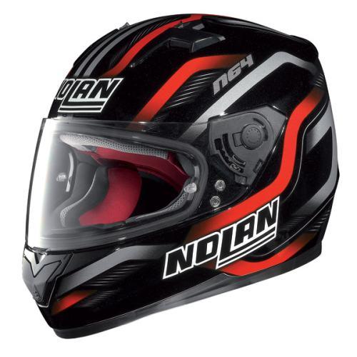 Nolan N-64 Fusion Black Red Grey Helmet
