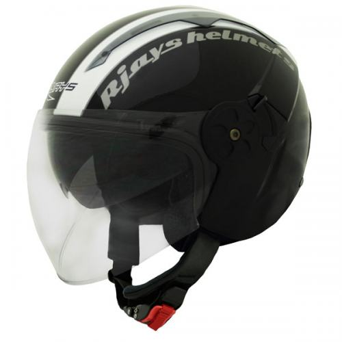 RJays Navona Open Face Helmet Gloss Black White