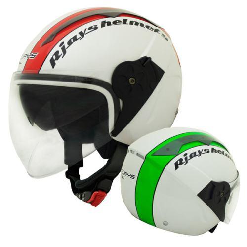 RJays Navona Open Face Helmet Italian Flag