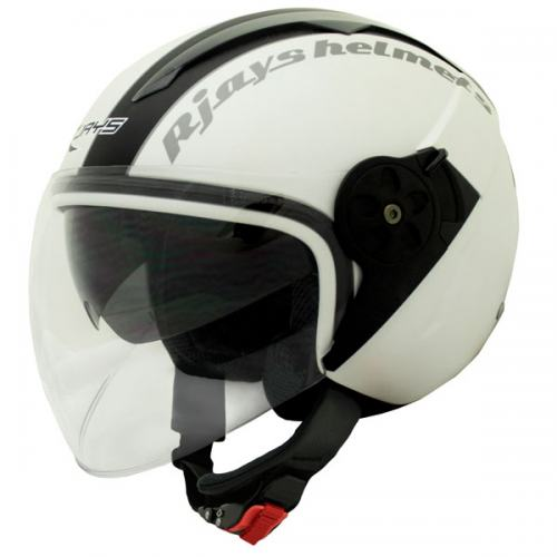 RJays Navona Open Face Helmet Matte White Black