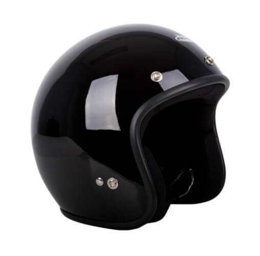 RXT A611C Challenger Open Face Helmet Black