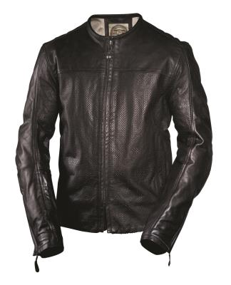RSD Roland Sands Design Barfly Perf Leather Jacket - Black