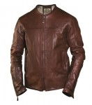 RSD Roland Sands Design Barfly Perf Leather Jacket - Tobacco