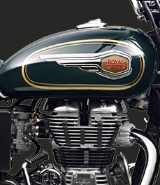 Royal Enfield new-bullet-500-green-motorcycle-badge-special-feature
