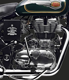 Royal Enfield new-bullet-500-green-motorcycle-engine-special-feature