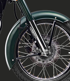 Royal Enfield new-bullet-500-green-motorcycle-wheels-special-feature