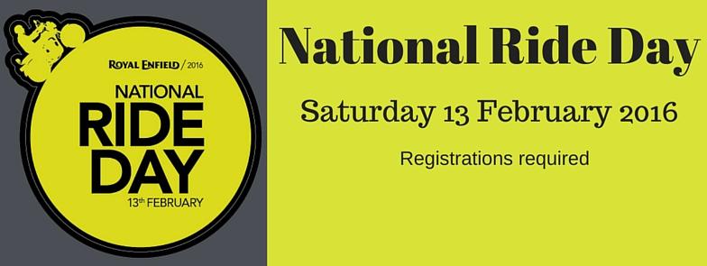 Royal Enfield National Ride Day 13 Feb 2016
