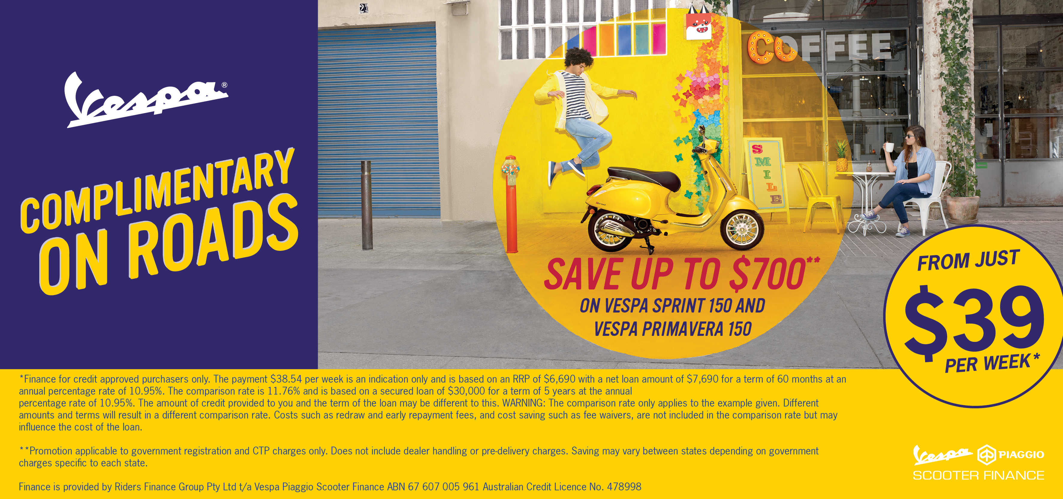 Save with Vespa! 12 Months Registration and CTP Free!