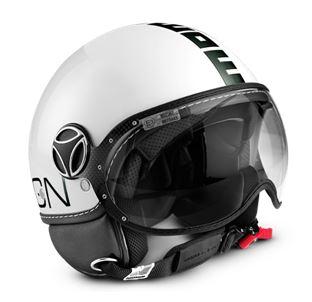 MOMO FGTR Classic Gloss White Black Helmet