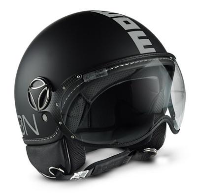 MOMO FGTR Helmet Black Matte Silver