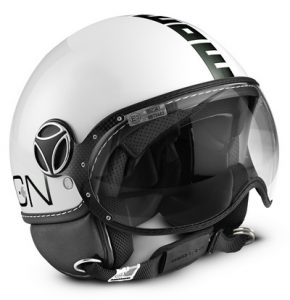 MOMO FGTR Helmet White Quartz Black