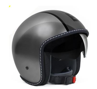 MOMO Blade Gloss Metal Grey Helmet