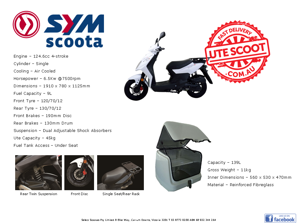 The SYM Ute Scoot has arrived!