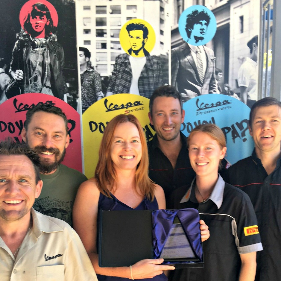 Piaggio and Vespa Best Performing Dealer in Qld for 2015