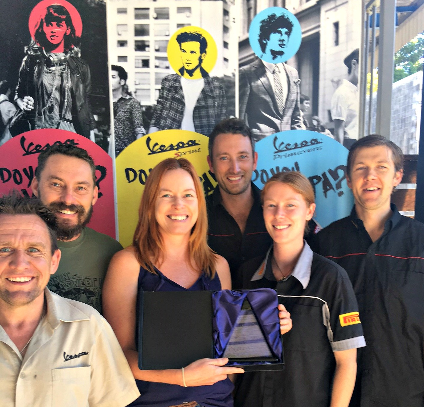 2015 Combined Piaggio & Vespa Best Performing Dealer in the Qld Region