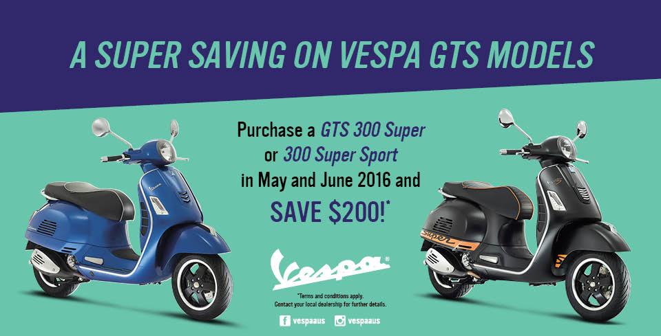 Vespa GTS 300 Promotion