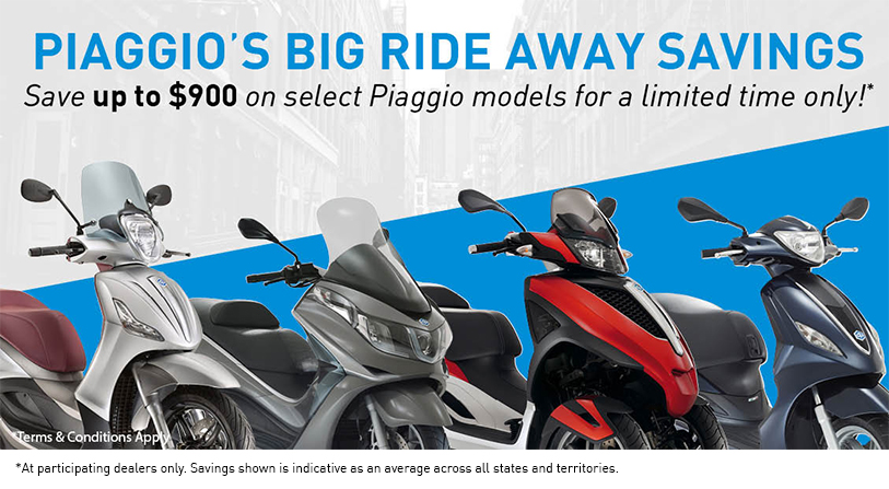 Piaggio Big Ride Away Savings