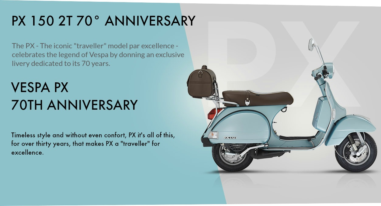 Vespa 70 Anniversary Scooter Style Noosa Motorcycles 150 Lx Fuse Box Px 70th Timeless Classic Peerless Comfort