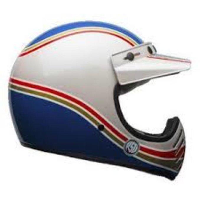 BELL Moto-3 Helmet RSD Malibu Blue White