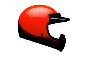 Bell Moto-3 Orange Classic