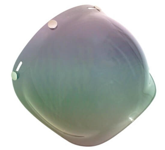 SCORPION 3 STUD BUBBLE VISOR RAINBOW MIRROR