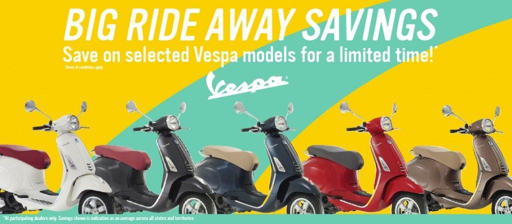 Vespa Big Ride Away Savings