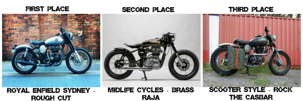 Royal Enfield Custom Bike Build Off Results