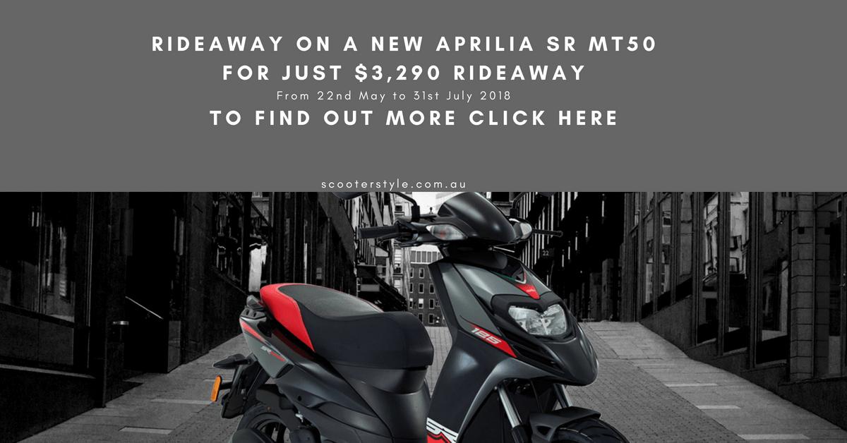 Aprila SRMT50 $3,290 Rideaway (1)