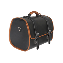 Vespa Genuine Black Leather Bag