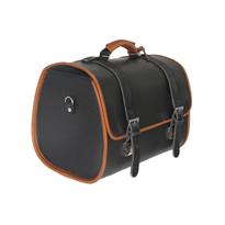 Vespa Genuine Black Leather Bag
