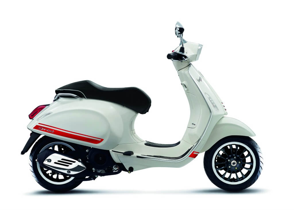 Vespa sprint sprint decal kit red