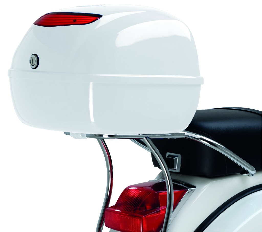 vespa px150 chromed top box support scooter style noosa. Black Bedroom Furniture Sets. Home Design Ideas