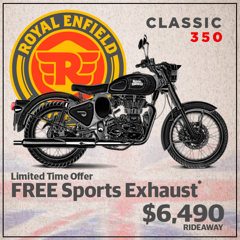 Royal Enfield Classic 350 Free Sports Exhaust Offer