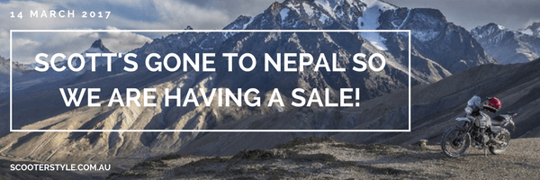 Scott's gone to Nepal so we are having a sale