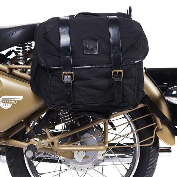 Royal Enfield Canvas Long Rider Saddle Bag Black