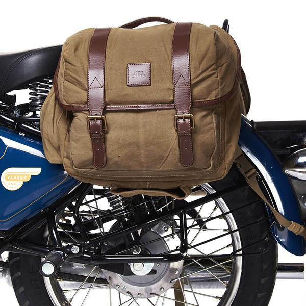 Royal Enfield Canvas Long Rider Saddle Bag Brown 1