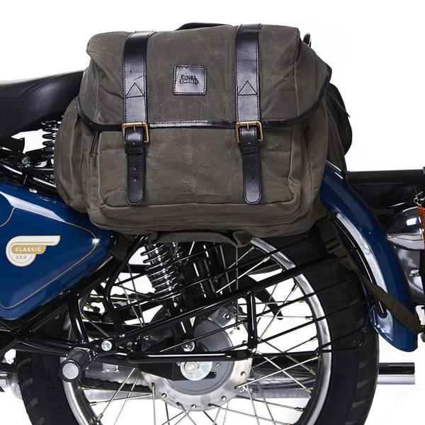 Royal Enfield Canvas Long Rider Saddle Bag Olive