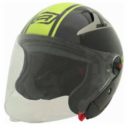 RJays Navona II Helmet Gloss Black Hi Viz Yellow