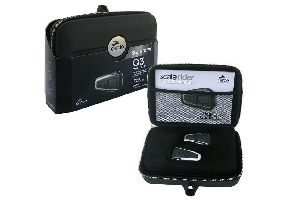 Scala Rider Q3 Multiset Motorcycle Bluetooth Intercom