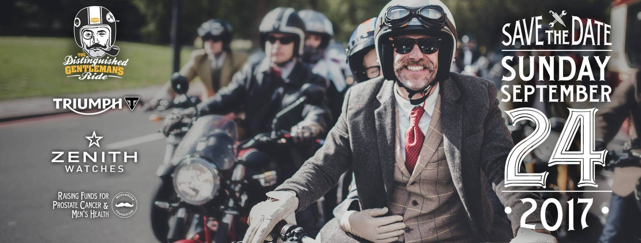 Distinguished Gentleman's Ride 2017 Save the Date