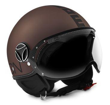 MOMO FGTR Evo Frost Tobacco Black Helmet