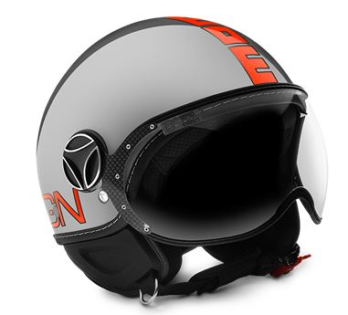 MOMO FGTR Evo Metal Orange Fluo Helmet