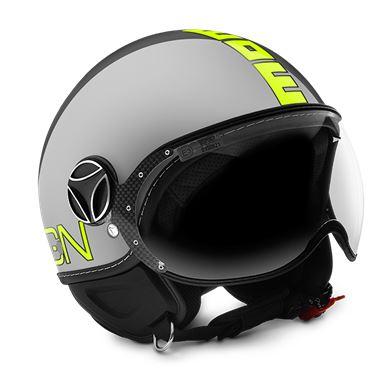 MOMO FGTR Evo Metal Yellow Fluo Helmet