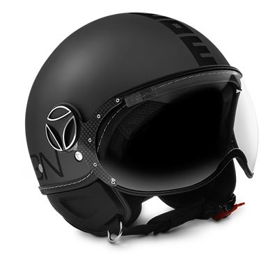 MOMO FGTR Evo Titanium Frost Black Decal Helmet