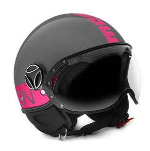 MOMO FGTR Fluo Gloss Grey Fuxia Helmet