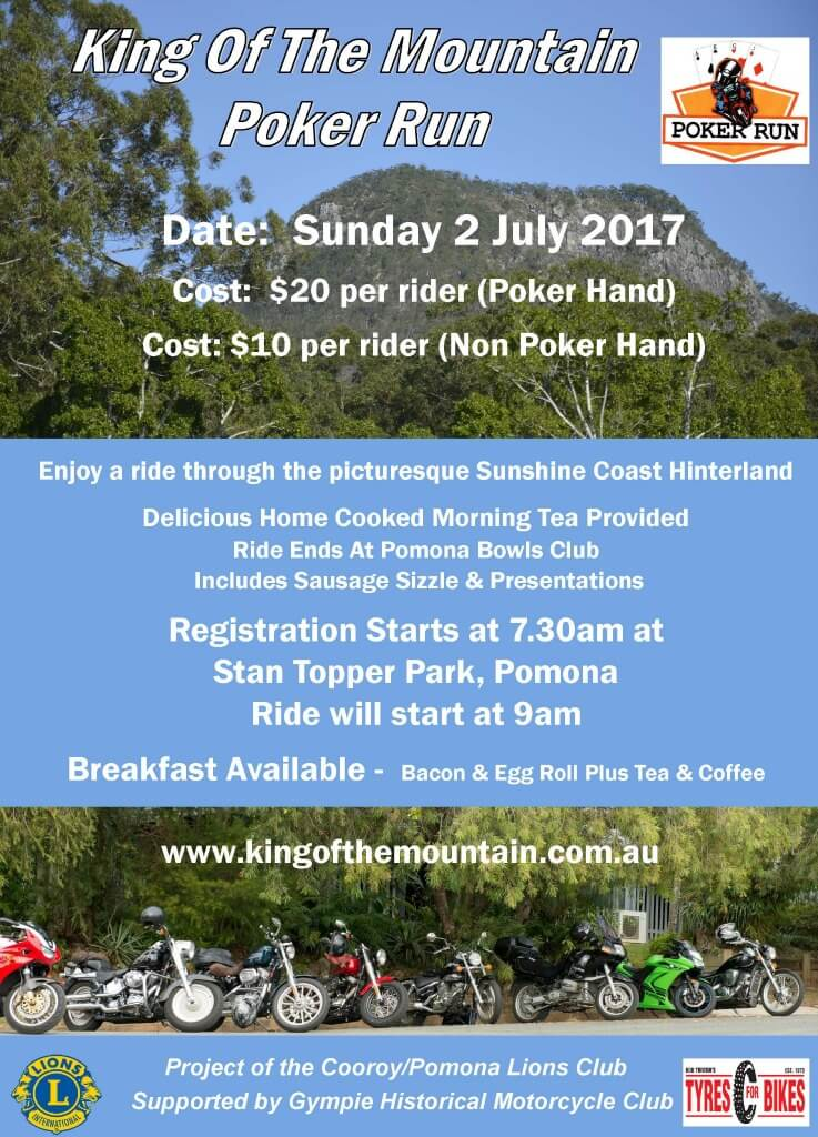 Pomona King of the Mountain Poker Run 2017