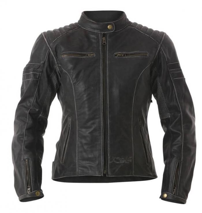 RST Ladies Roadster Leather Jacket Black Fade